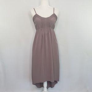Bar III sleeveless taupe midi dress women's Medium